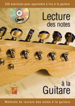 Lecture des notes à la guitare